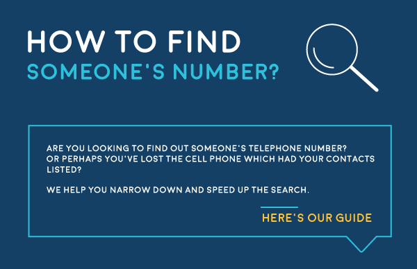 How to Find Someone's Phone Number