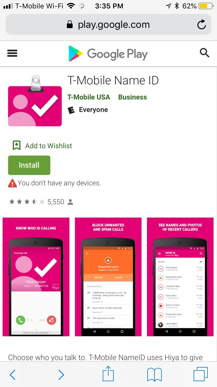 Does T-Mobile provide a Reverse Cell Phone Directory?