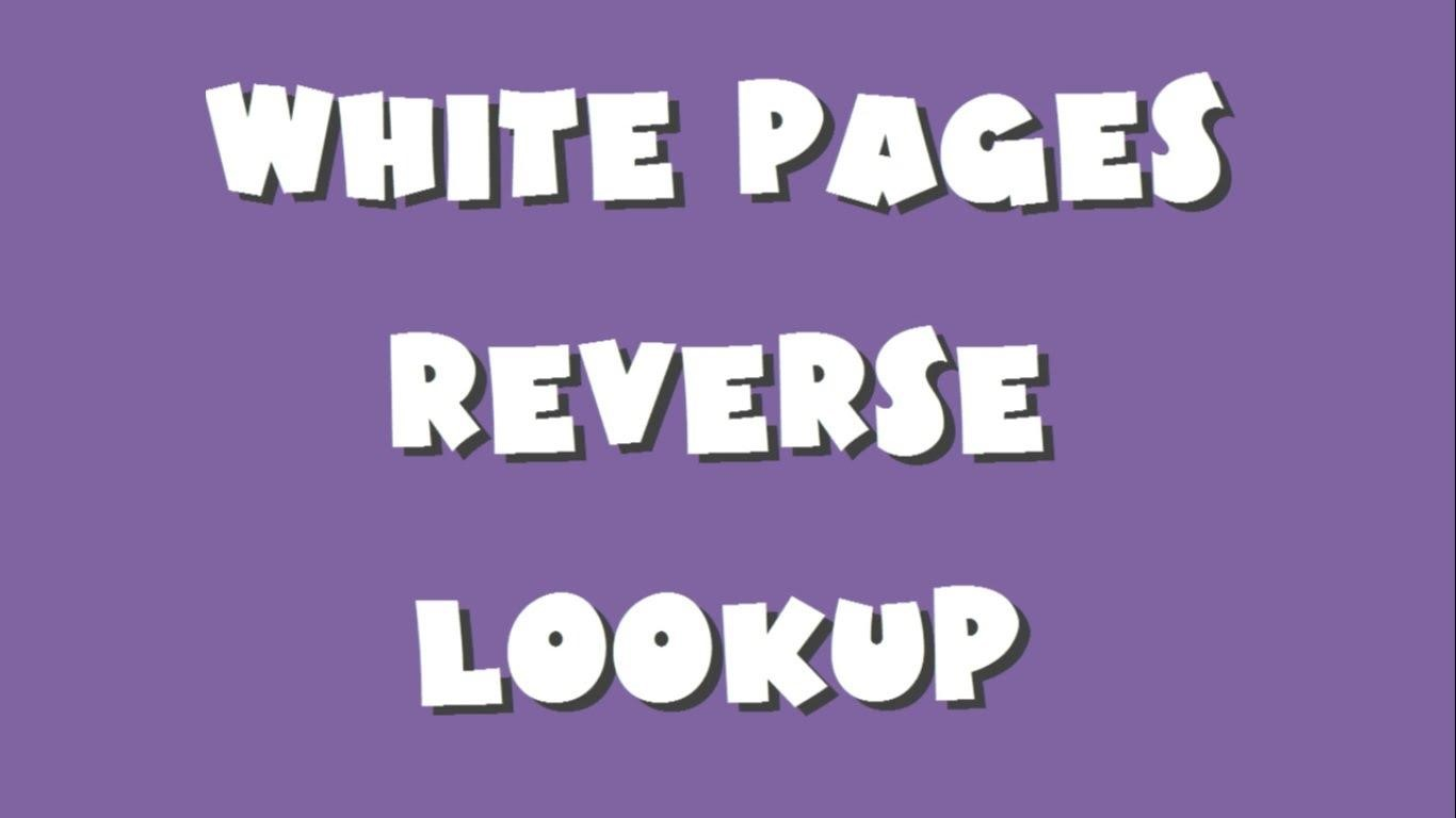 white pages reverse cell phone lookup
